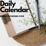 no school daily calendar